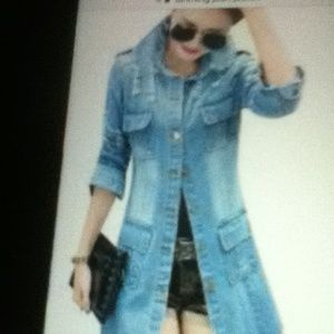 Jackets & Blazers - New jean jacket (2X)